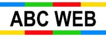ABC WEB agence de communication site internet wordpress seo logo noir